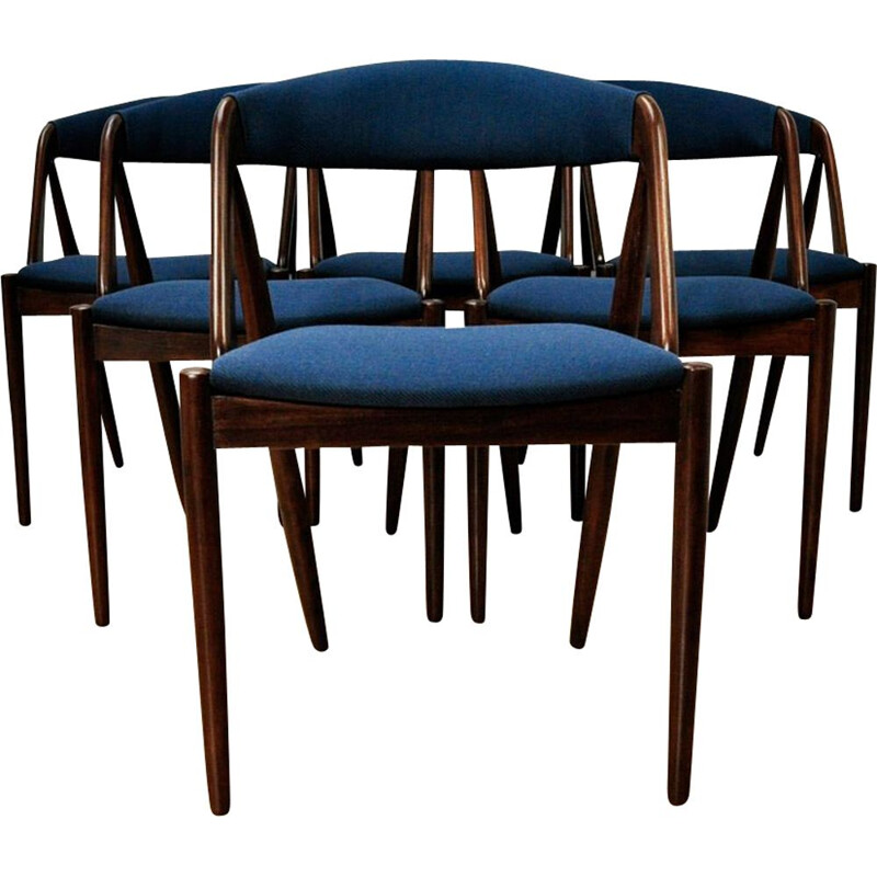 Set of 6 vintage dining chairs 31 by Kai Kristiansen for Schou Andersen