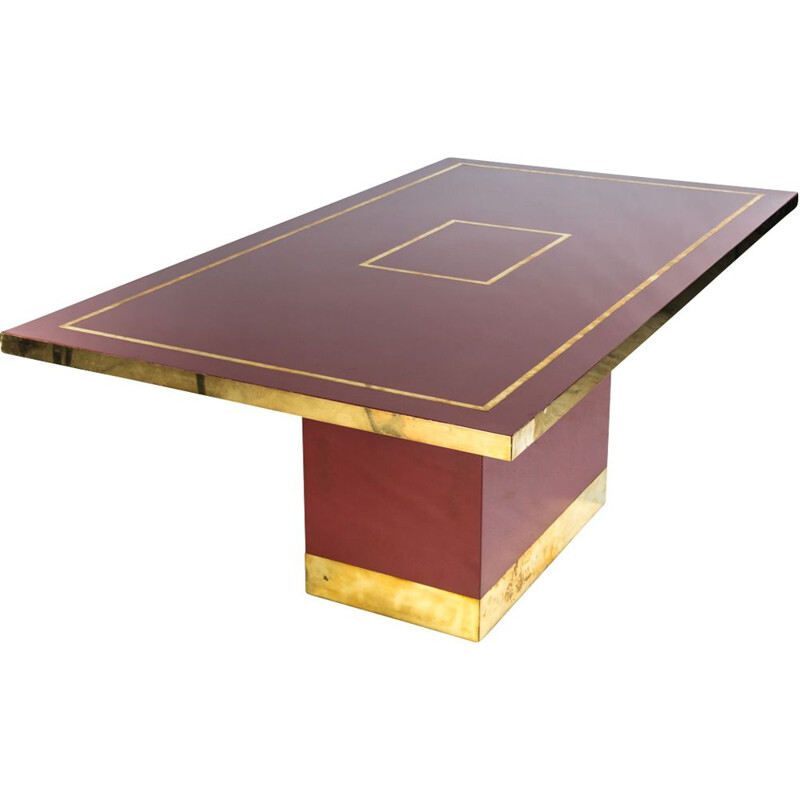 Vintage rectangular table by Jean-Claude Mahey