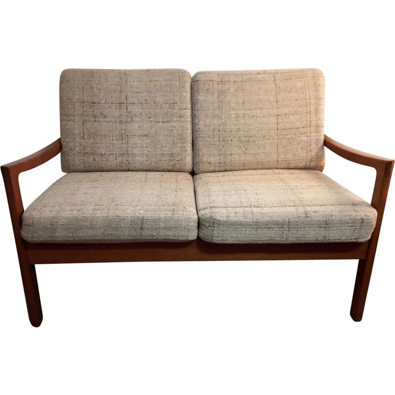 Vintage 3 seater sofa in teak by Ole Wanscher