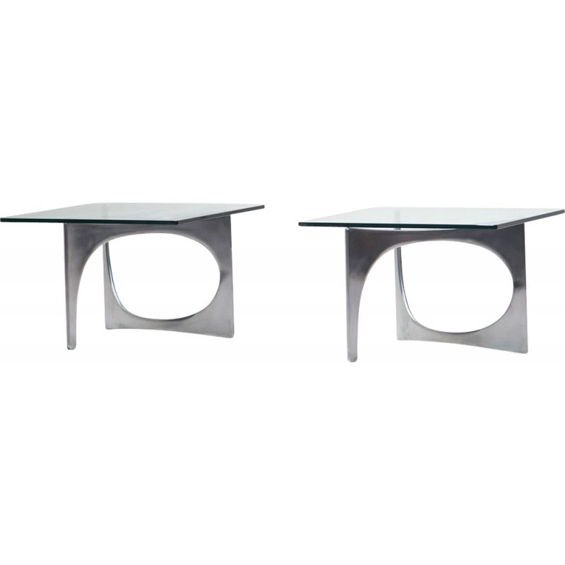 Set of 2 coffee tables by Knut Hesterberg