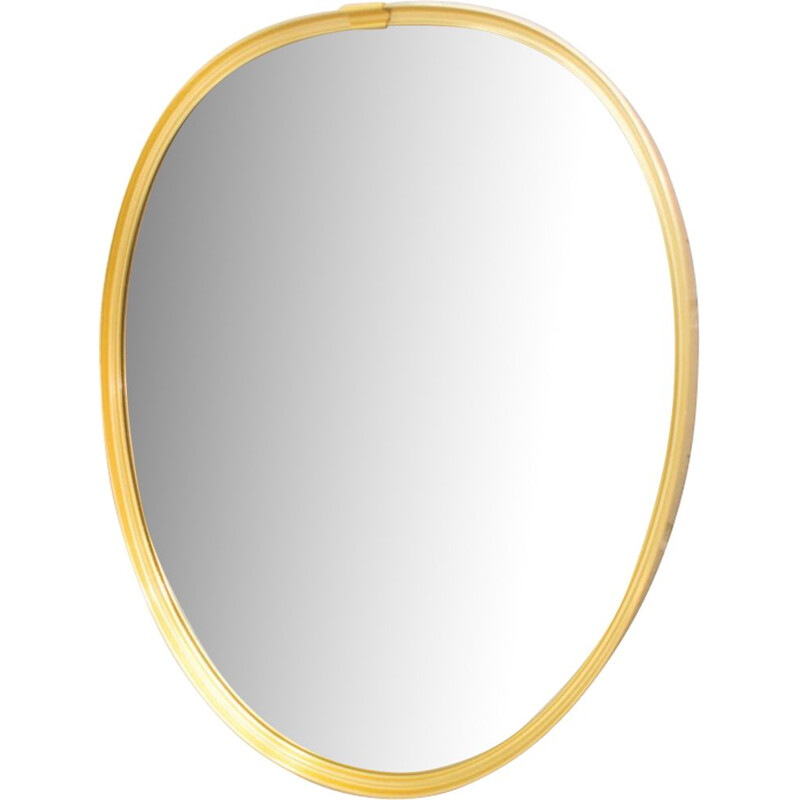 Vintage mirror in golden brass
