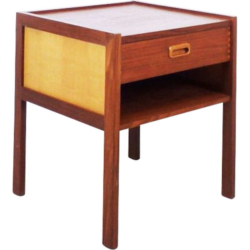 Vintage Scandinavian night stand in teak