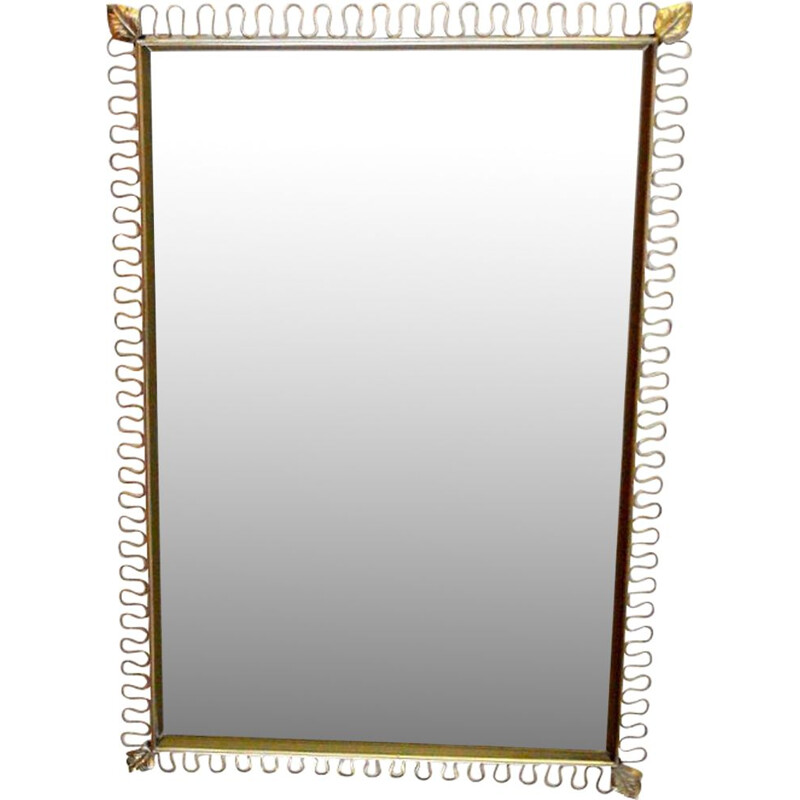 Vintage rectangular mirror by Josef Frank