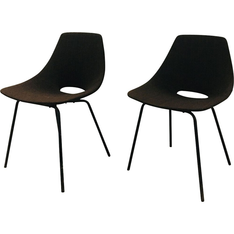 Pair of Barrel chairs by Pierre Guariche
