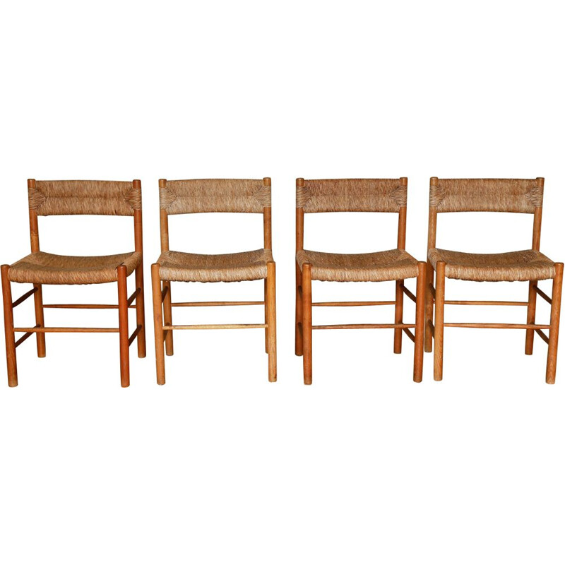 Set of 4 Dordogne chairs by Charlotte Perriand
