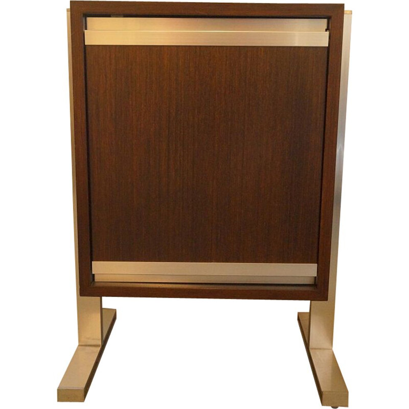 Vintage cabinet for Ligne Roset in teak and aluminum