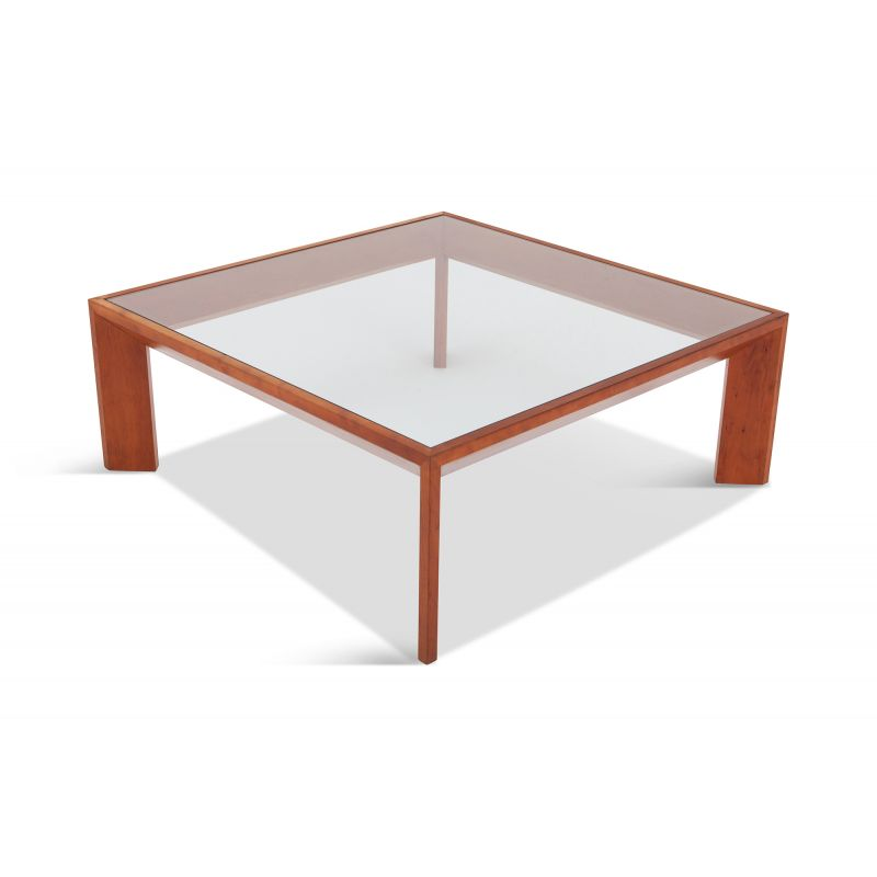 Square Coffee Table Glass Top.Vintage French Square Coffee Table In Elmwood With Glass Top 1930