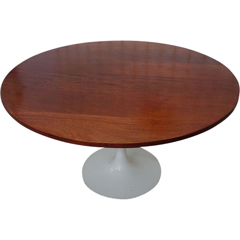 Vintage round table Tulip foot by Maurice Burke for Arkana