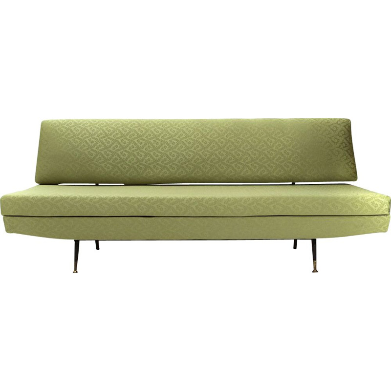 Vintage Italian green 3-seater sofa