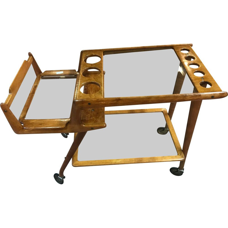 Vintage Italian serving cart by Cesare Lacca