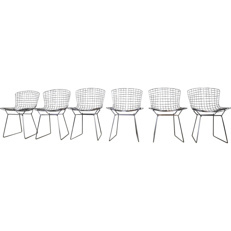 Set of 6 vintage chairs by Harry Bertoia for Knoll international
