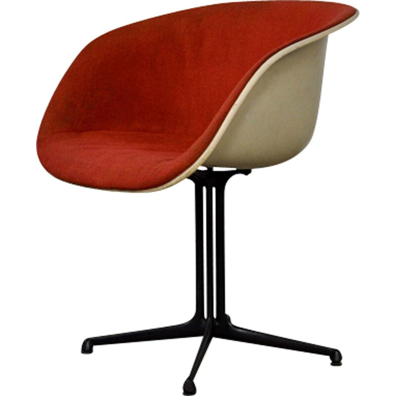 Vintage shell armchair la fonda by Charles and Ray Eames for Herman Miller