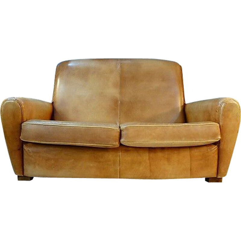 Vintage 2 seater sofa in leather