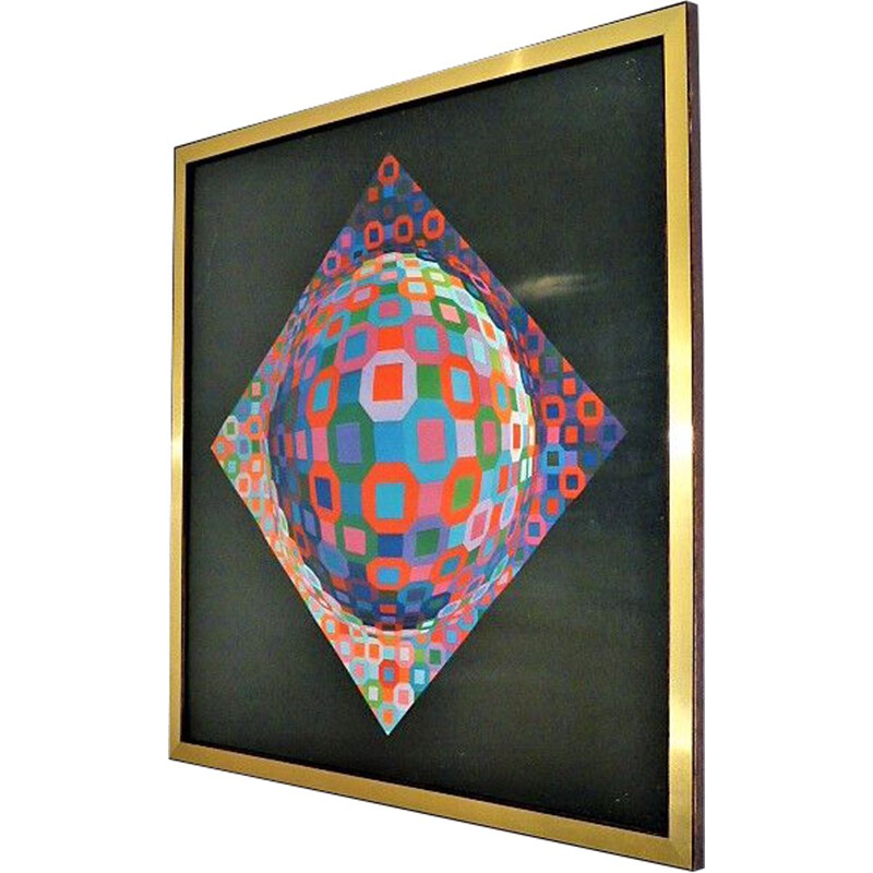 Vintage serigraphy Planetary by Victor Vasarely