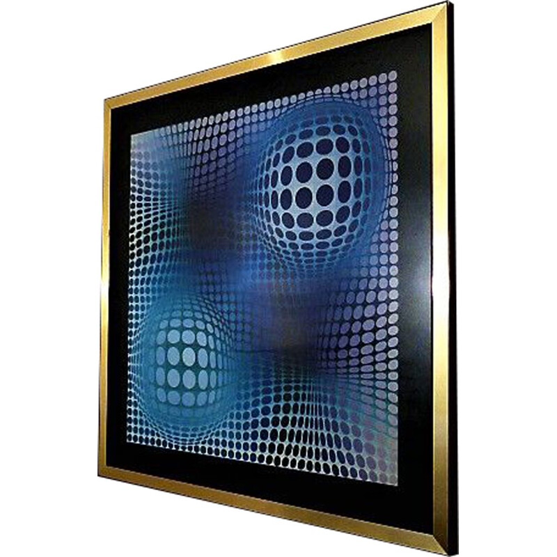 Vintage serigraphy Feny by Victor Vasarely