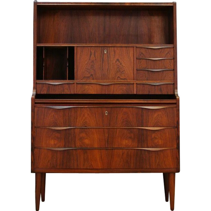 Vintage secretaire Danish design in rosewood