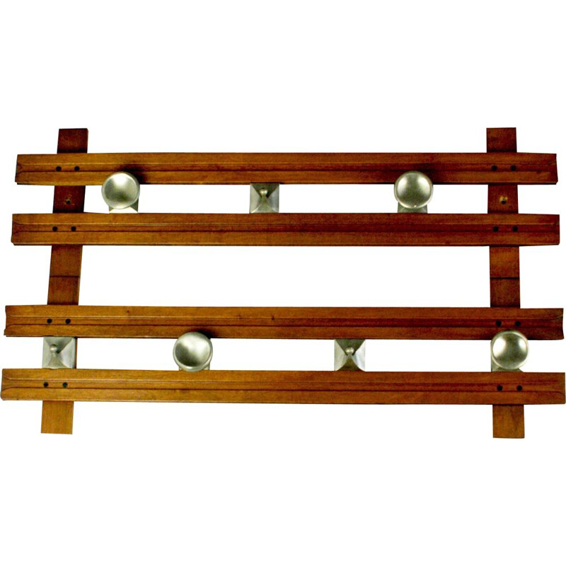 "Vintage Italian coat rack in teak ""Regolo"" by Ico Parisi for Stildomus"