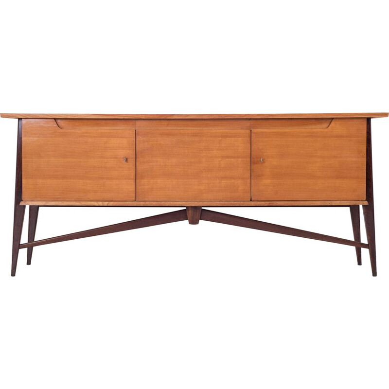Vintage Two Tone sideboard by De Coene in cherrywood 1950