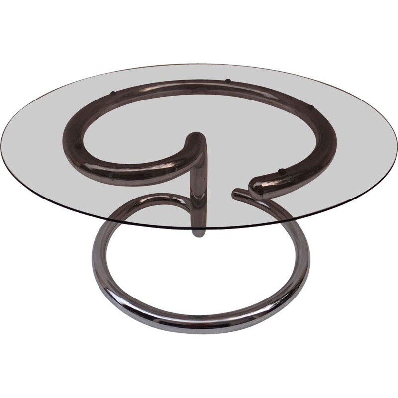 """Vintage coffee table """"Anaconda"""" by Paul Tuttle for Strässle"""
