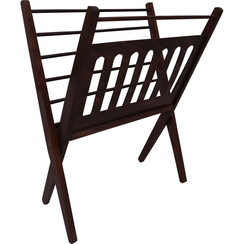 Vintage Dutch magazine rack by Cees Braakman