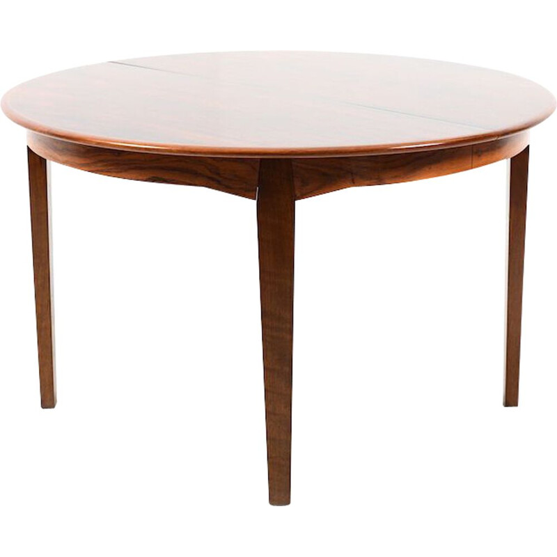 Vintage round Danish dining table in rosewood