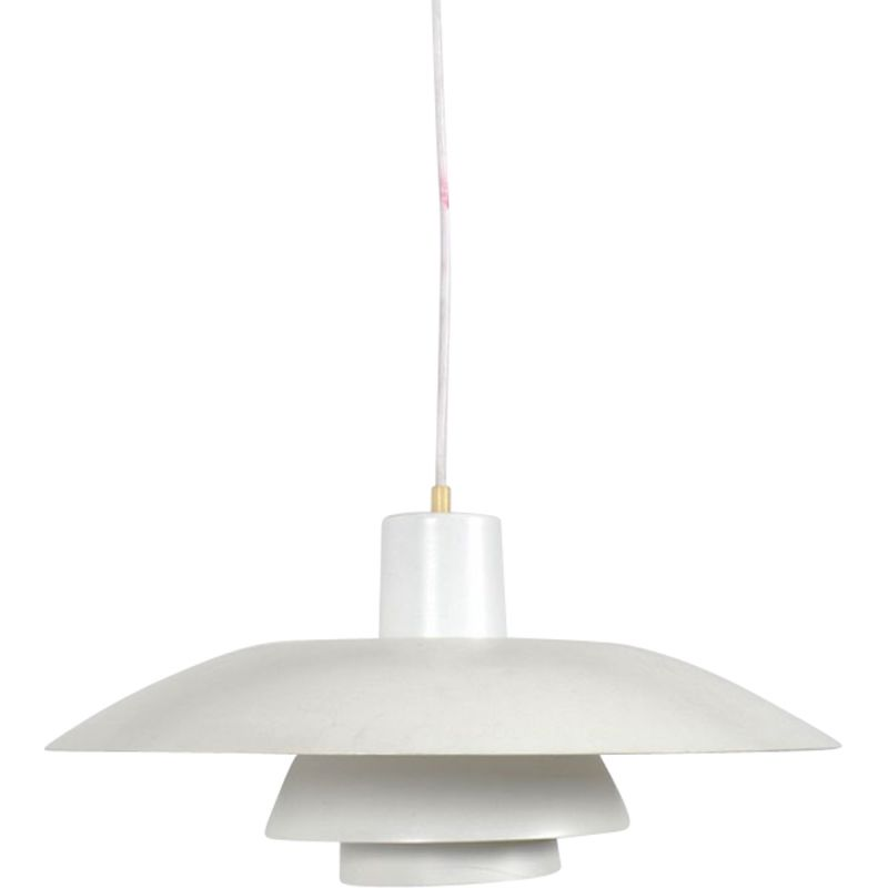 "Vintage white pendant lamp ""PH 43"" by Louis Poulsen"