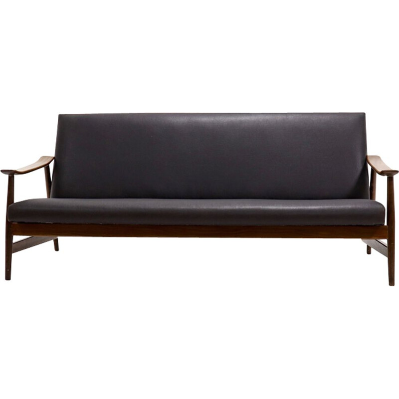 Vintage Danish 3-seater sofa in teak