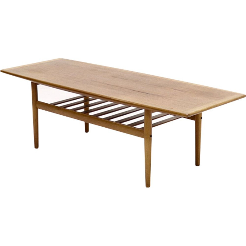 "Vintage ""Surfboard"" coffee table by Grete Jalk for Glostrup"