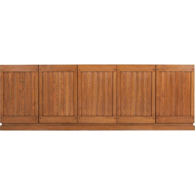 Vintage geometric sideboard in oak