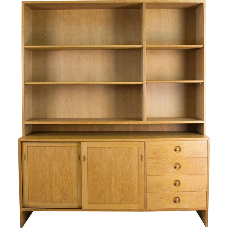 Vintage bookcase in oak by Hans J. Wegner for Ry Mobler