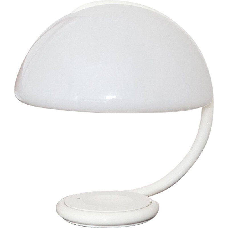White Serpente lamp by Elio Martinelli for Martinelli Luce