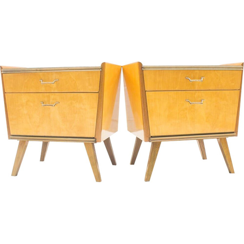 Set of 2 Italian bedside tables
