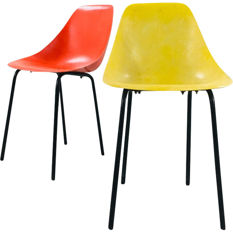 Set of 2 Ladybug chairs by René-Jean Caillette