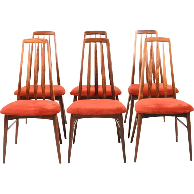 Set of 6 vintage dining chairs in rosewood by Niels Koefoed