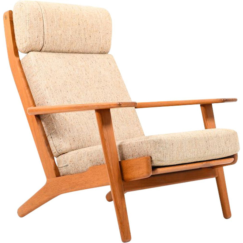 "Vintage lounge chair ""GE-290"" in teak by Hans J. Wegner for Getama"