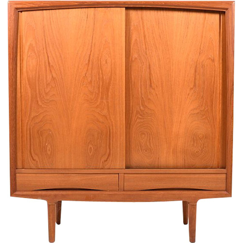 Vintage Danish highboard in teak by Gunni Omann for ACO