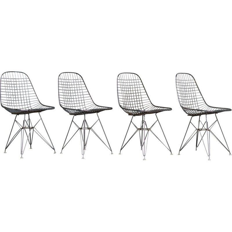 Set of 4 vintage chairs DKR by Eames