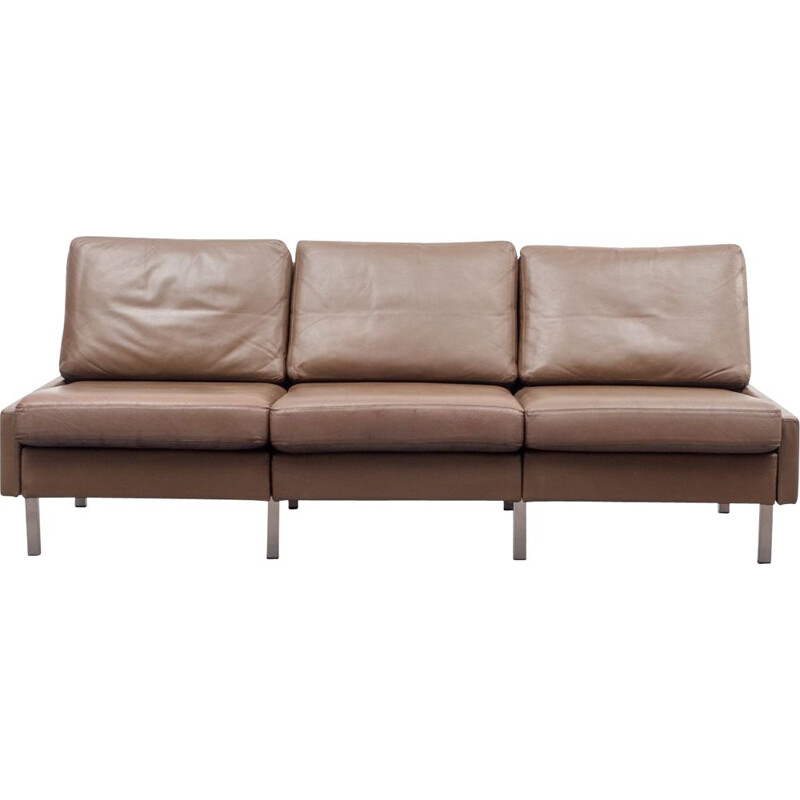 "Vintage 3-seater sofa ""Conseta"" in leather by COR"