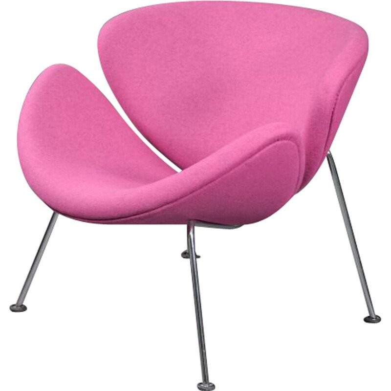 "Vintage pink armchair ""Orange Slice"" by Pierre Paulin for Artifort"