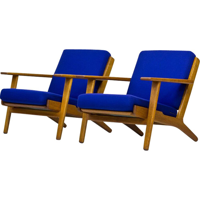 Set of 2 vintage armchairs GE-290 by Hans Wegner for Getama