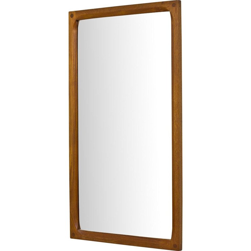 Vintage teak wall mirror by Kai Kristiansen for Aksel Kjersgaard