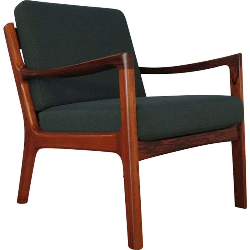 Vintage armchair in rosewood Ole Wanscher
