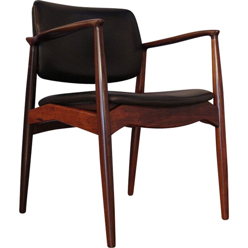 Armchair Model 67 Brazilian Rosewood & Leather, Erik Buch