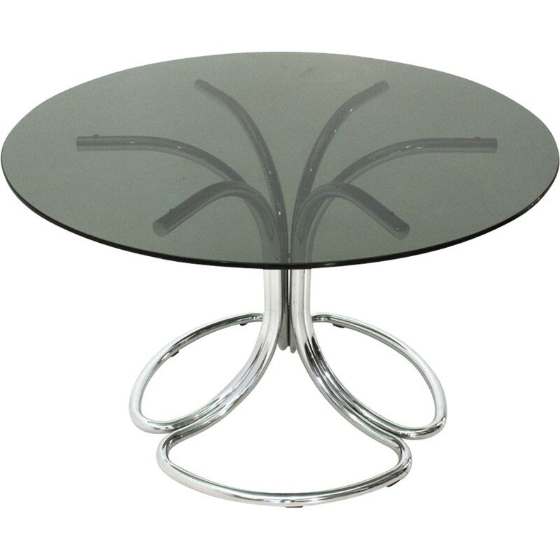 Vintage Italian dining table in chrome