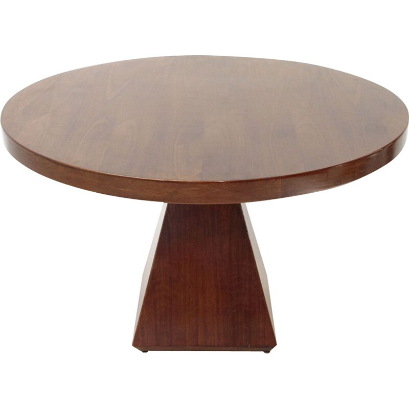 Vintage Italian circular dining table by Vittorio Introini for Saporiti