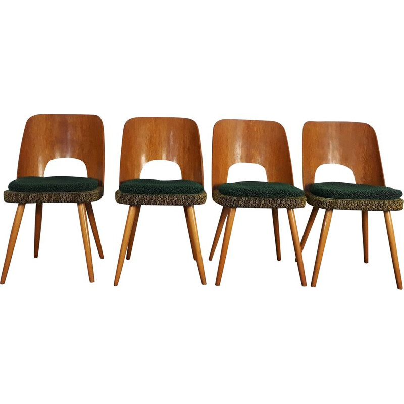Set of 4 vintage Czech chairs by Tatra