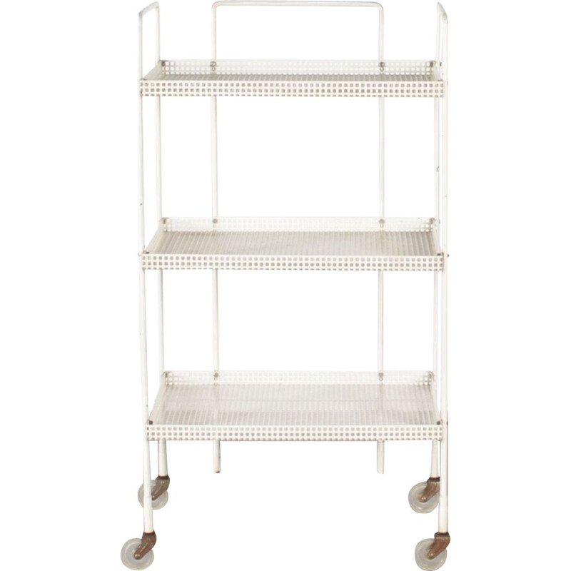 Vintage Dutch trolley in perforated metal