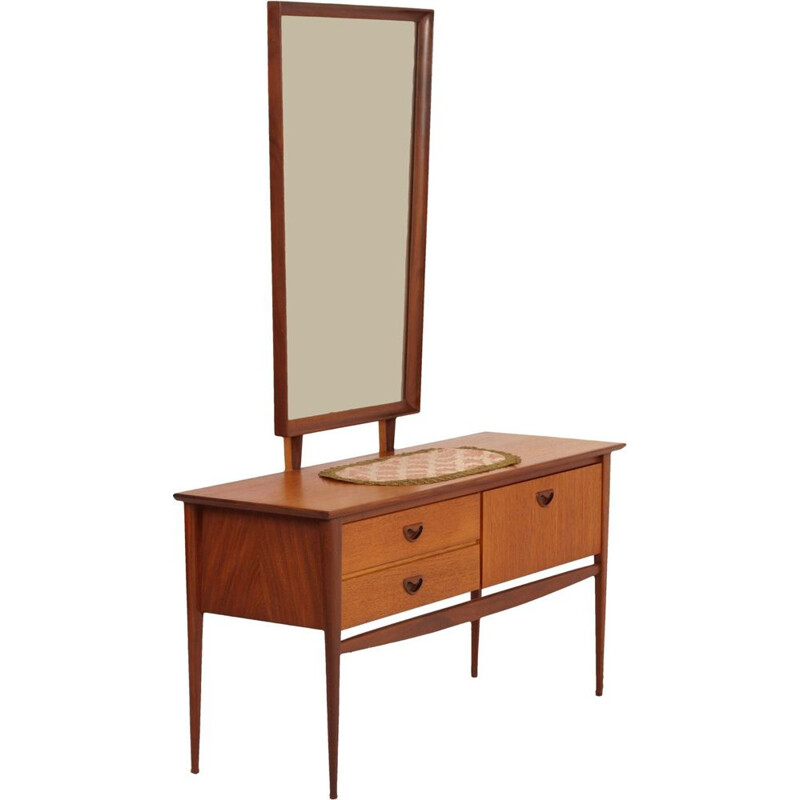 Vintage teak dressing table by Louis van Teeffelen for Wébé