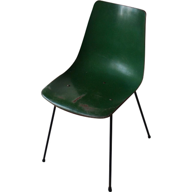 Vintage green chair CM131 by Pierre Paulin for Thonet
