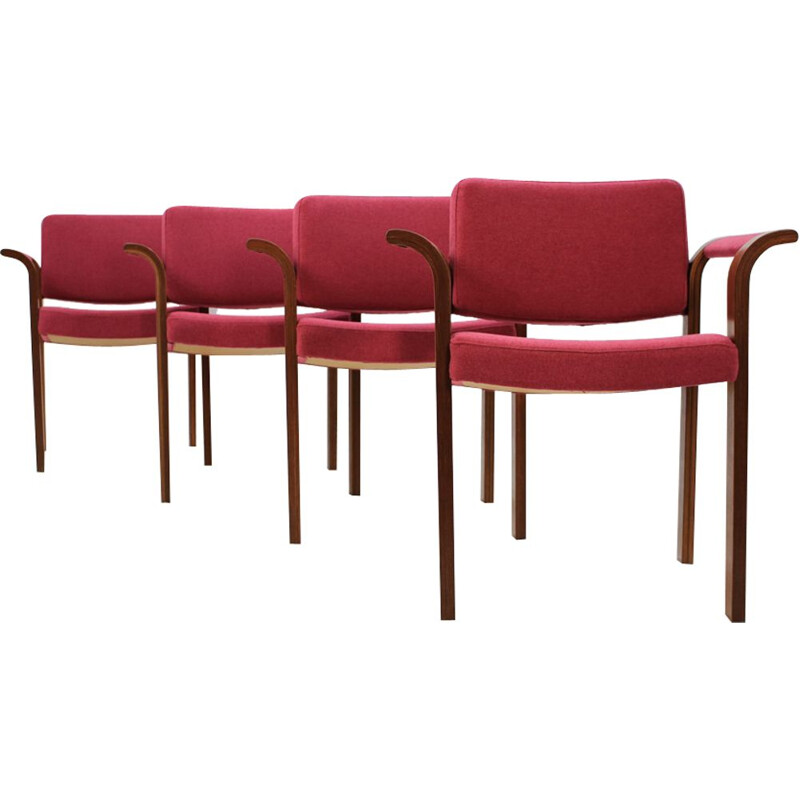 Set of 4 vintage chairs by Rud Thygesen and Johnny Sørensen for Magnus Olesen